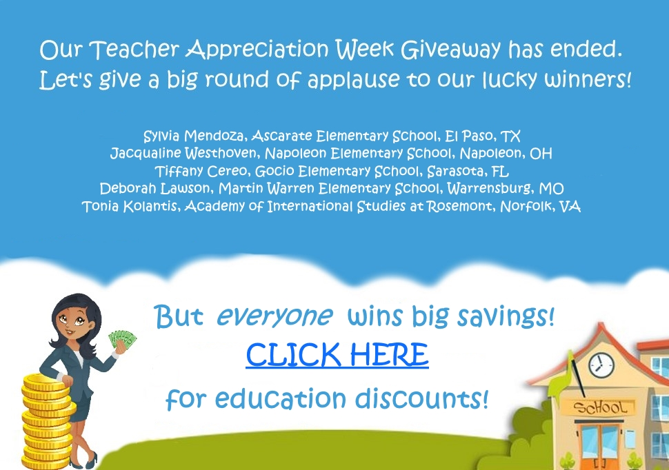 My Education Discount Teacher Appreciation Week Giveaway 2018