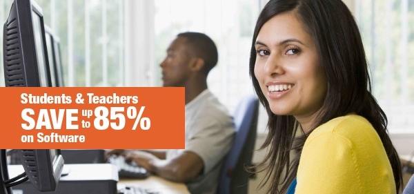 Teachers and students get discounts of up to 85% on software!